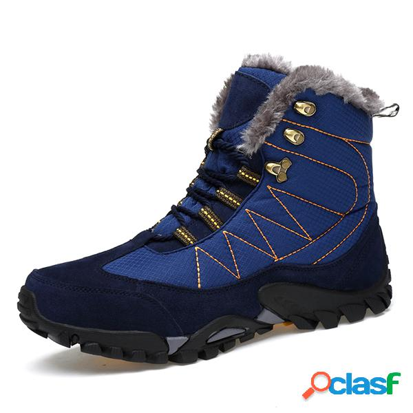 Zapatos de senderismo impermeables con forro de peluche