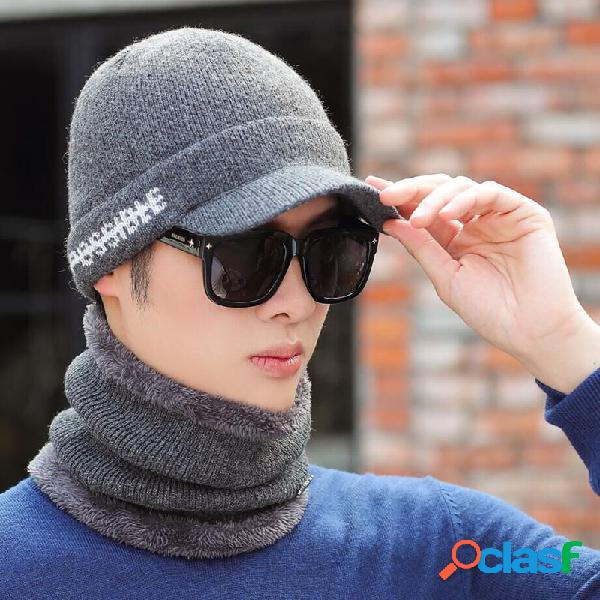 al aire libre Warm Sombrero Gorra de lana para hombre con