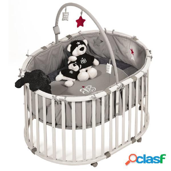 roba Parque cuna ovalado para bebés Rock Star Baby 1
