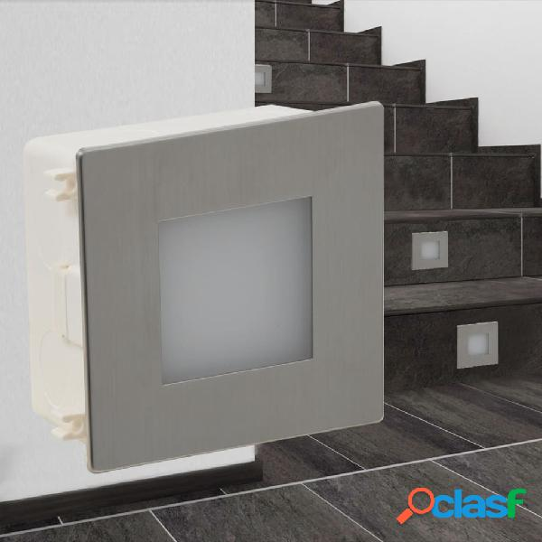 vidaXL 2x Luces LED empotrables para escaleras 85x48x85 m