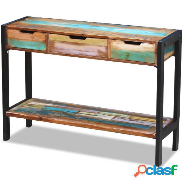 vidaXL Aparador con 3 cajones de madera maciza reciclada