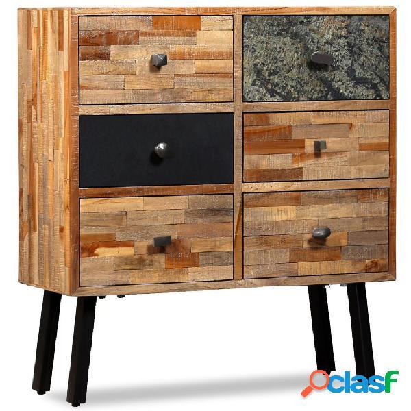 vidaXL Aparador con 6 cajones madera de teca reciclada