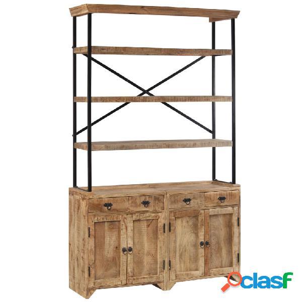 vidaXL Aparador con estantes de madera de mango maciza