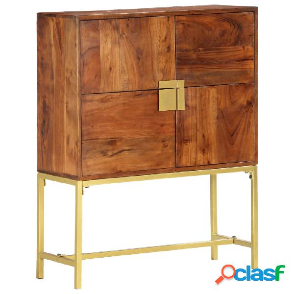 vidaXL Aparador de madera maciza de acacia 80x30x100 cm