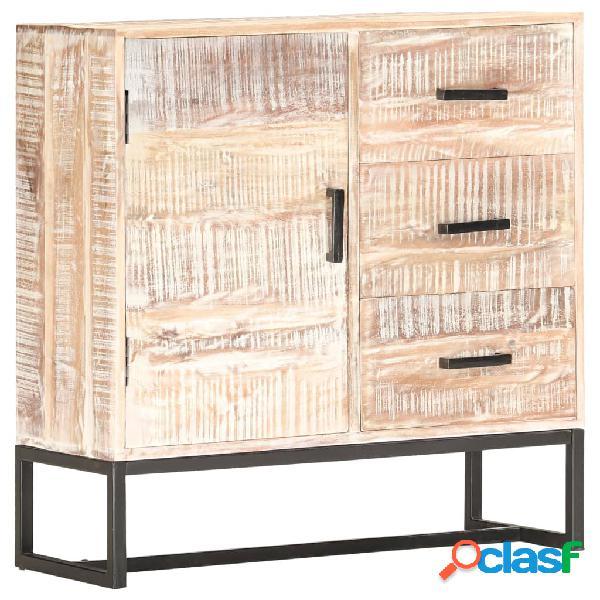 vidaXL Aparador de madera maciza de acacia blanco 73x30x75