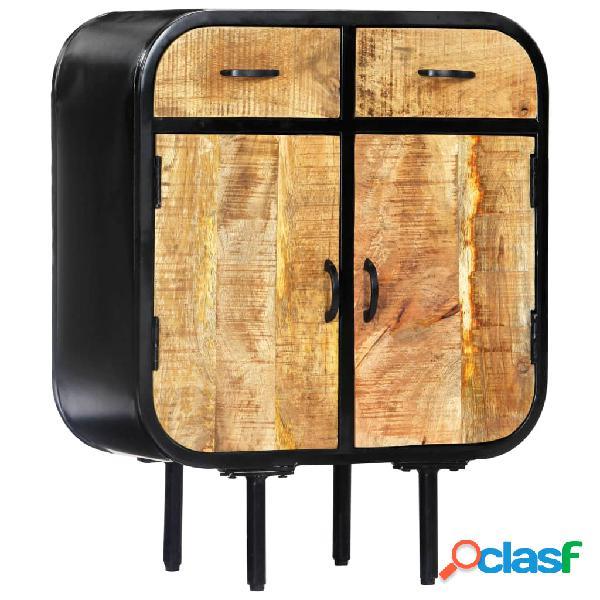 vidaXL Aparador de madera maciza de mango y hierro 60x30x75