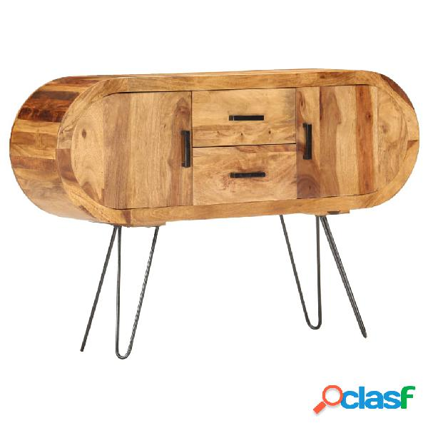 vidaXL Aparador de madera maciza de sheesham 118x28x75 cm