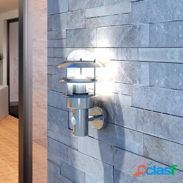 vidaXL Aplique de pared de acero inoxidable, para jardín
