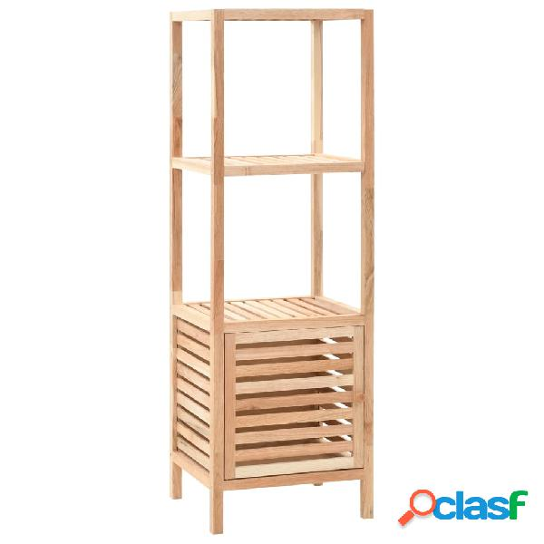 vidaXL Armario de cuarto de baño madera maciza nogal