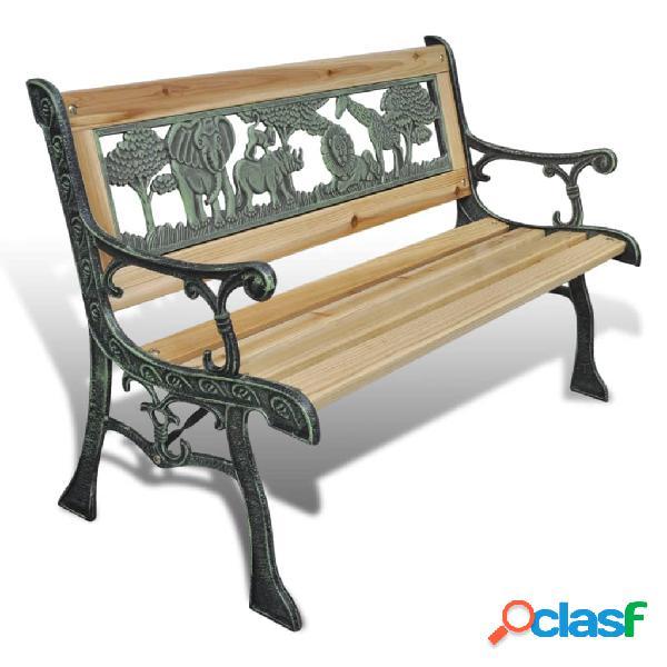 vidaXL Banco de jardín para niños de madera 84 cm