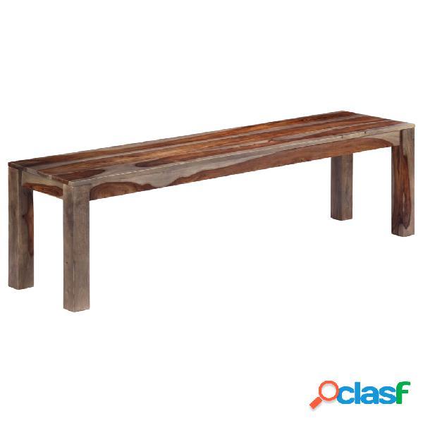 vidaXL Banco de madera maciza de sheesham gris 160 cm