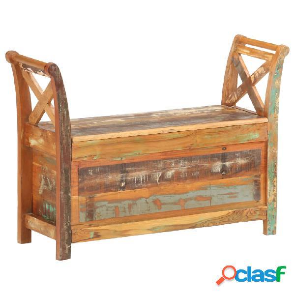 vidaXL Banco de recibidor madera maciza reciclada 103x33x72