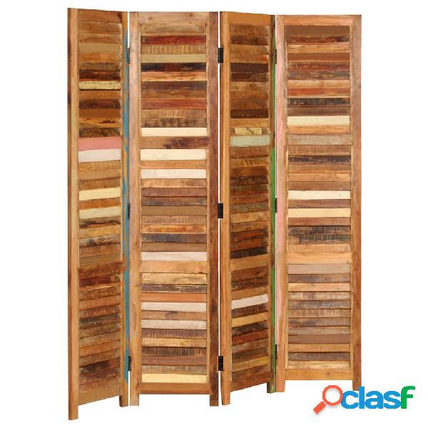 vidaXL Biombo de madera maciza reciclada 170 cm
