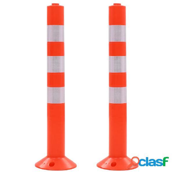 vidaXL Bolardos de control de tráfico plástico 75 cm 2