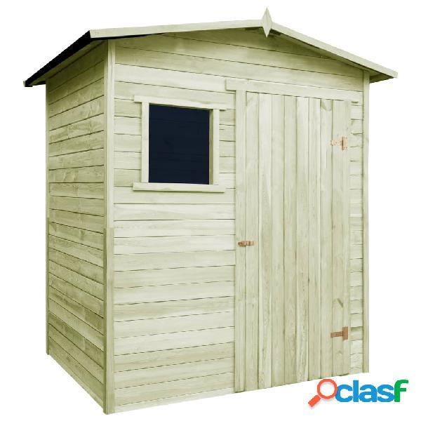 vidaXL Caseta cabaña de jardín de madera de pino