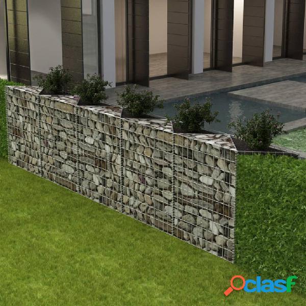 vidaXL Cesta de muro de gaviones acero galvanizado