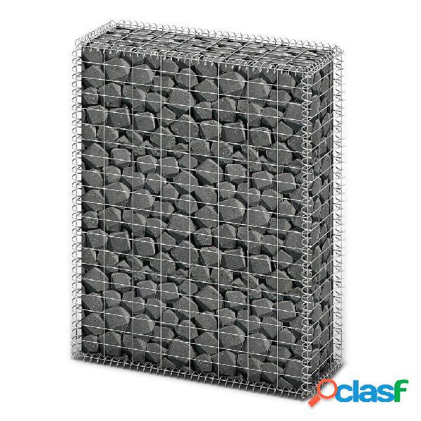 vidaXL Cesta para muro de gaviones de alambre galvanizado