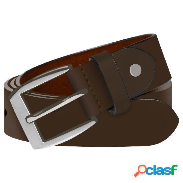 vidaXL Cinturón de cuero marrón de hombre para traje 105