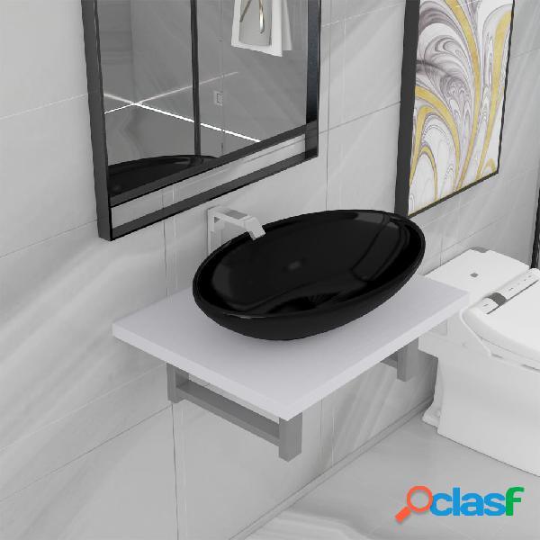 vidaXL Conjunto de muebles de baño 2 piezas cerámica