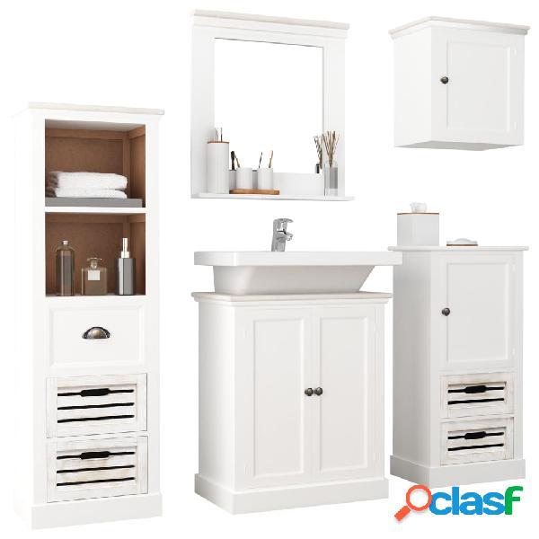 vidaXL Conjunto de muebles de baño de 5 piezas madera