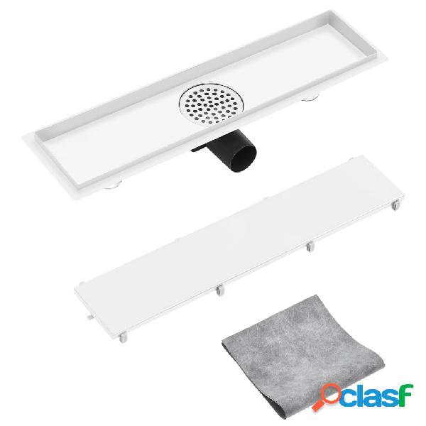 vidaXL Desagüe de ducha con cubierta 2 en 1 acero