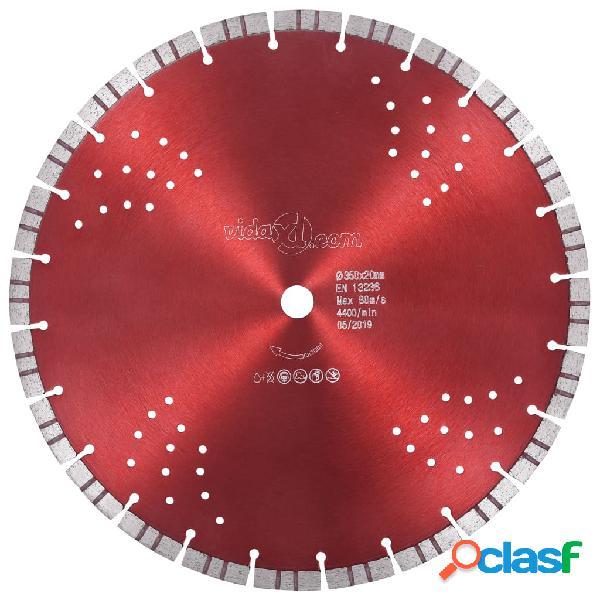 vidaXL Disco de corte de diamante con turbo y agujeros acero