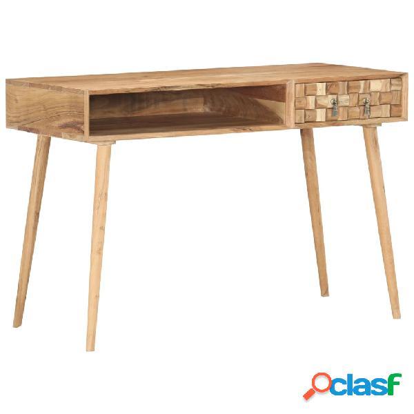 vidaXL Escritorio de madera maciza de acacia 115x50x76 cm
