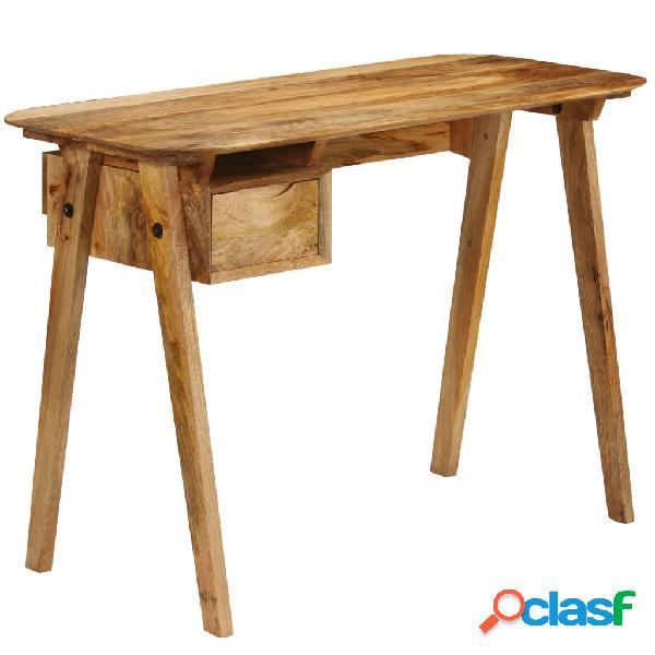 vidaXL Escritorio de madera maciza de mango 110x50x76 cm