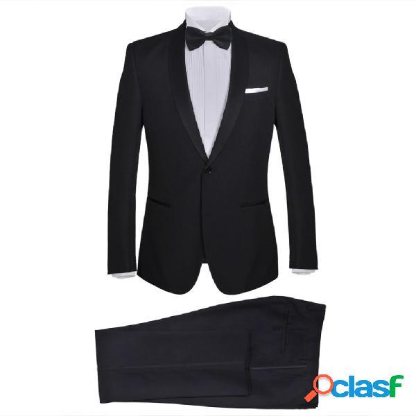 vidaXL Esmoquin traje de gala de 2 piezas con corbatín para