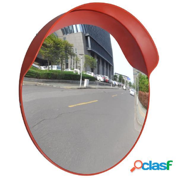vidaXL Espejo de tráfico convexo plástico naranja 60 cm