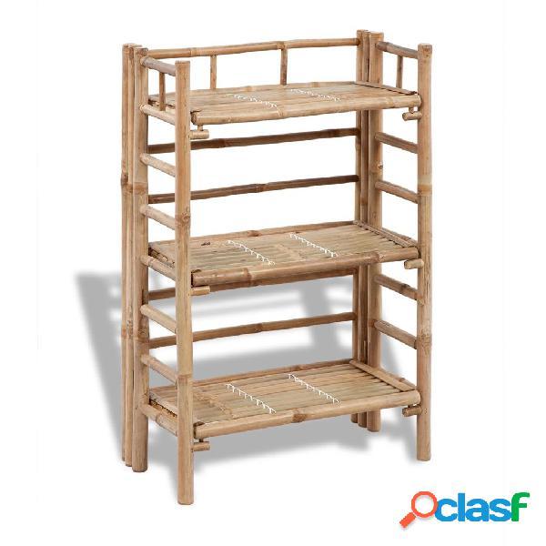 vidaXL Estantería de bambú con 3 niveles para plantas