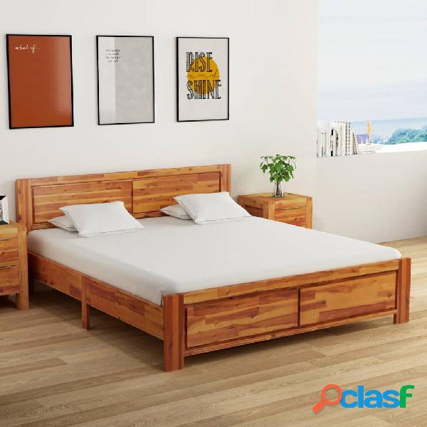 vidaXL Estructura de cama de madera maciza de acacia 180x200