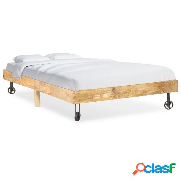vidaXL Estructura de cama de madera maciza de mango 120x200