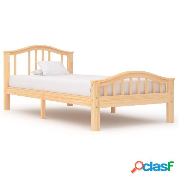 vidaXL Estructura de cama de madera maciza de pino 100x200