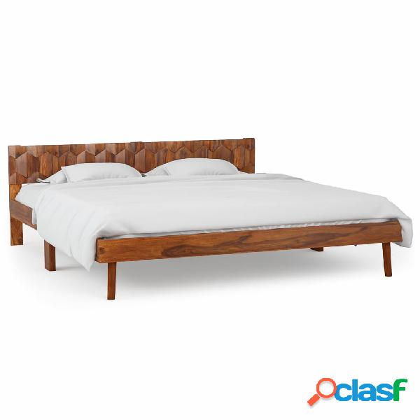 vidaXL Estructura de cama de madera maciza de sheesham