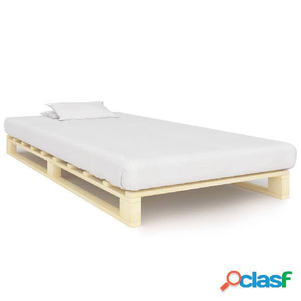 vidaXL Estructura de cama de palés madera maciza de pino