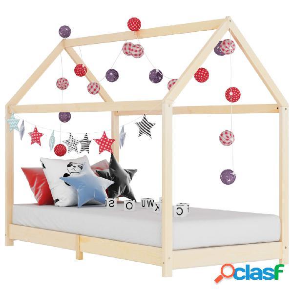 vidaXL Estructura de cama infantil de madera maciza de pino