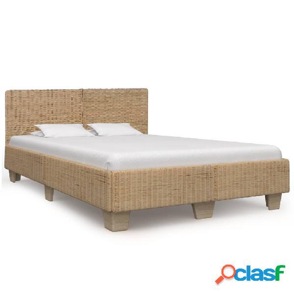 vidaXL Estructura de cama tejida a mano de ratán auténtico