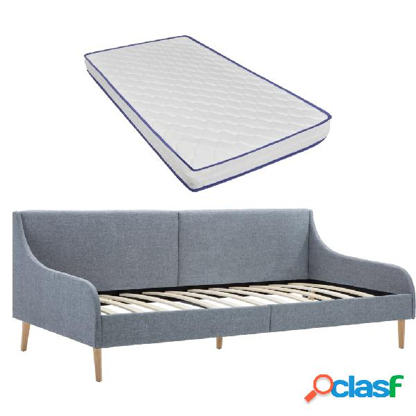 vidaXL Estructura sofá cama con colchón viscoelástico