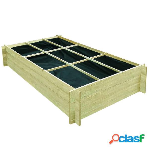 vidaXL Jardinera para verduras madera pino impregnada