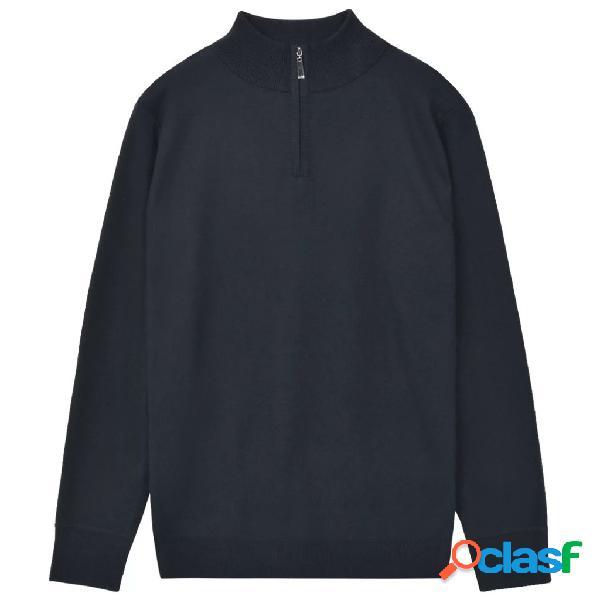 vidaXL Jersey de hombre con cremallera azul marino M