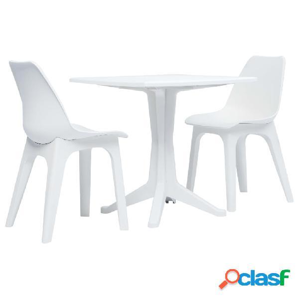 vidaXL Juego de mesa y sillas de jardín 3 piezas plástico