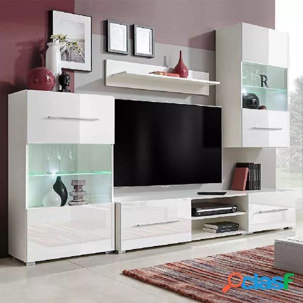 vidaXL Juego de muebles de salón 5 piezas con iluminación