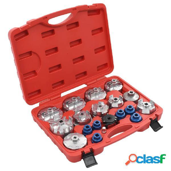 vidaXL Juego de tapones de filtro de aceite 19 piezas