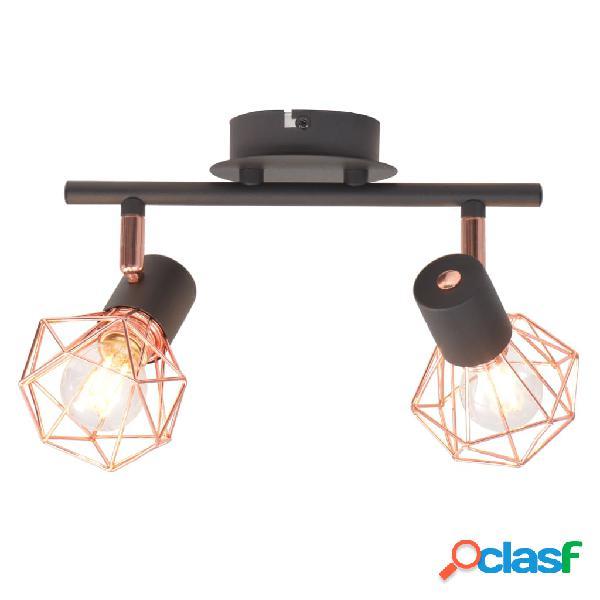 vidaXL Lámpara de techo con 2 bombillas de filamento LED 8