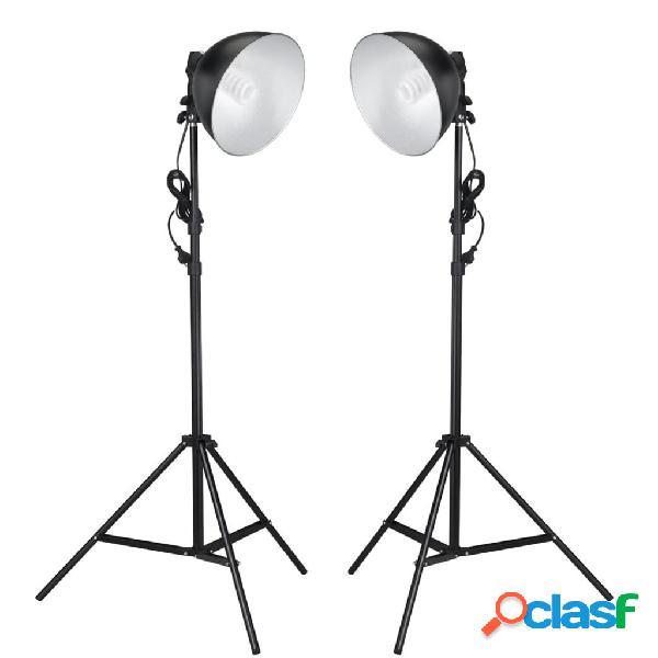 vidaXL Lámparas de estudio con reflector y trípodes 24