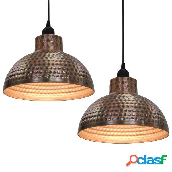 vidaXL Lámparas de techo semiesféricas 2 unidades color