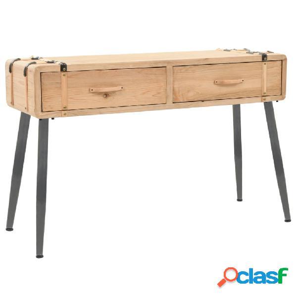 vidaXL Mesa consola de madera de abeto maciza 115x40,5x76 cm