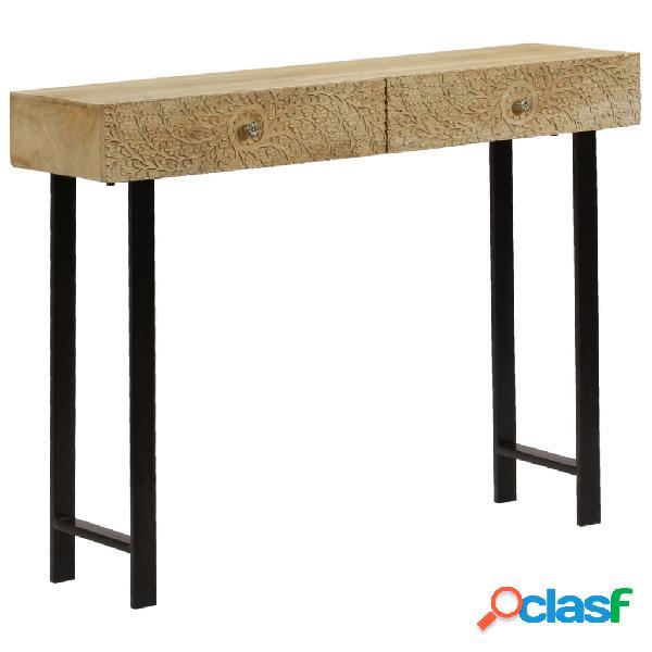 vidaXL Mesa consola de madera maciza de mango 102x30x79 cm