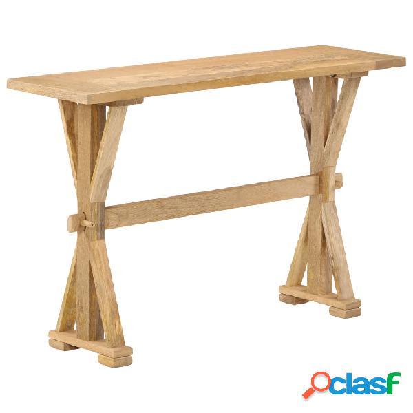 vidaXL Mesa consola de madera maciza de mango 118x35x76 cm